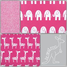 Coming Soon!! Hot Pink Bumper-Free Crib Bedding From Liz and Roo!! #madeinUSA