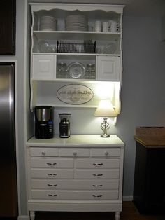 Bedroom dresser remake ~ needed more space in the kitchen so refurbished an old Ethan Allen bedroom dresser.