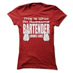 THIS IS AN AWESOME Bartender LOOKS LIKE T Shirts, Hoodies. Check Price ==► https://www.sunfrog.com/LifeStyle/THIS-IS-AN-AWESOME-Bartender-LOOKS-LIKE-T-SHIRTS-Ladies.html?41382