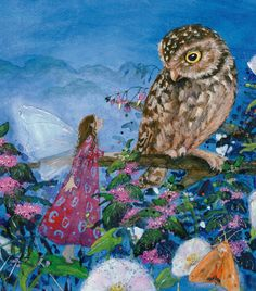 A magical illustration from Daniela Drescher's Little Fairy Can't Sleep - Floris Books