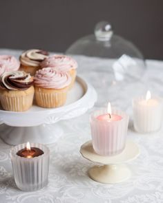 Available in over 45 colors, our 15 hour votive candles can be customized to fit any or theme. Votive Candles, Panna Cotta, Wedding Decorations, Canning, Ethnic Recipes, Cupcakes, Home Decor, Colors, Fit