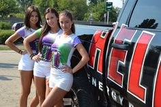 Keepin' it cool...Nouba girls promoting Hell Energy's SummerCool Limited Edition!