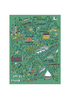 Norfolk Broads map by Steph Marshall