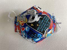 Excited to share this item from my #etsy shop: 3D Face mask, Stoffmaske, Maske für Kinder, Mundschutz, Gesichtsmasken, waschbar, Yo-Kai Watch 6 Years, Kai, Lunch Box, Bring It On, Etsy Shop, Backpacks, Masks Kids, Facial Masks, Cotton Textile