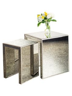 Mirrored Nesting Tables (Set of 2) by Statements by J at Gilt