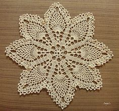 Ravelry: Easy Pineapple Doily pattern by Sylvia Landman my grandmother tought me this doilie about 33 years ago I love it still can make this doilie with o patteren Crochet Cross, Crochet Home, Thread Crochet, Filet Crochet, Diy Crochet, Vintage Crochet, Free Crochet Doily Patterns, Crochet Motif, Free Pattern