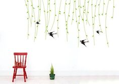 bird wall decal sticker wall decal wall art decal for kids childre girls 40143
