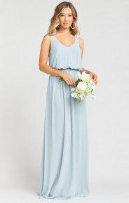 Kendall Maxi Dress ~ Steel Blue Chiffon