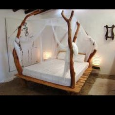 Drift wood platform bed!!!