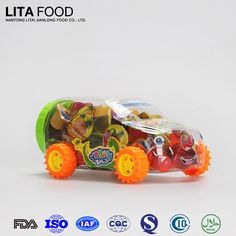 Small plastic toys car with chinese candy assorted coconut jelly candy in bulk