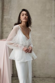 Wedding Dresses A Line Beaded Prea James Bridal Bridal Looks, Bridal Style, Wedding Dress Separates, Civil Wedding, Luxury Wedding Dress, Bridal Dresses, Wedding Styles, Marie, Gowns