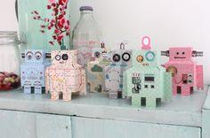 Ik vind deze papieren robots van Studio Ditte gewoon zo enorm leuk!