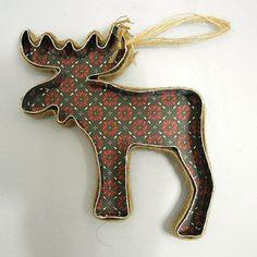 Moose Ornament by Jennifer Ingle