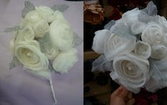 Check out this insanely beautiful bridal bouquet we made for one of our visitors.  Pictures really don't do it justice...