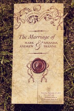 Vintage styled invitations... would be cool to make them more gothic..skulls and stuff.. yes, super cool.