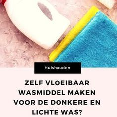 Zelf vloeibaar wasmiddel maken voor de donkere en de lichte was – Mamameteenblog.nl Deodorant, Bath Mat, Middle, Bathrooms