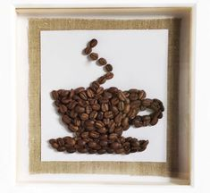 Coffee art Coffee Art, Frame, Home Decor, Picture Frame, Coffee Decorations, A Frame, Interior Design, Latte Art, Frames