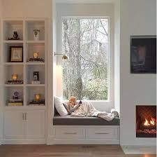 Trendy Window Nook Design Ideas To Get Cozy Space In Your House - Home Design Ideas Window Benches, Bay Window Seats, Bay Window Storage, Window Seat Curtains, Window Seat Cushions, Burlap Curtains, Window Coverings, Cozy Nook, My New Room