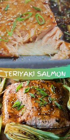 Salmon fillet is marinated in teriyaki sauce with garlic, ginger and soy sauce, then baked in the oven with bok choy for an easy one pan dinner. This teriyaki salmon recipe delivers a delicious meal that is both light and flavourful!
