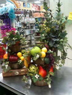 1000 Images About Artificial Fruit And Flower Arrangement Ideas On Pinterest Silk Floral