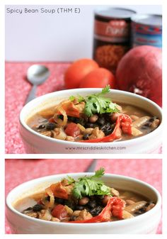 Spicy Bean Soup (THM E) - an E-asy E meal that is packed full of flavor!  THM E!
