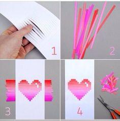 Precioso corazón tridimensional para hacer una tarjeta romántica y original