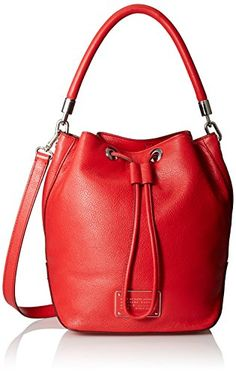 Women's Shoulder Bags - Marc by Marc Jacobs New Too Hot To Handle Large Drawstring Bucket Bag Cambridge Red One Size >>> To view further for this item, visit the image link.