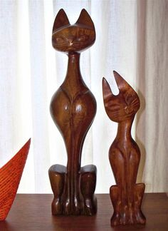 cat carvings