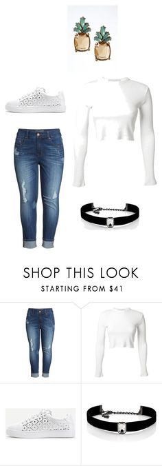 """""""casual af"""" by nonto-hlatshwayo on Polyvore featuring Melissa McCarthy Seven7, Rosetta Getty, WithChic, Kenneth Jay Lane and Banana Republic"""