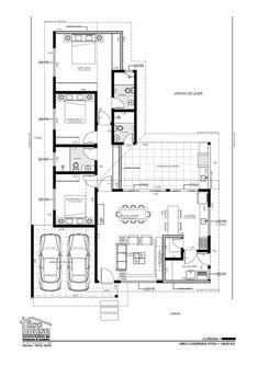 Little House Plans, Small Modern House Plans, Modern Small House Design, Best House Plans, House Floor Plans, L Shaped House Plans, Architectural Floor Plans, Architectural Models, Architectural Drawings