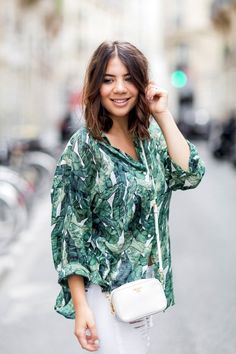See This Blogger's Stylish Take On A Tropical Print via @WhoWhatWear
