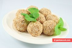 Cheese Balls in Toasted Sesame Seeds | Children's Food | Genius cook - Healthy Nutrition, Tasty Food, Simple Recipes