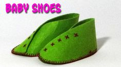 DIY Crafts - Making of Baby Shoes Knit Baby Shoes, Felt Shoes, Shoe Pattern, Baby Shoes Pattern, Baby Crafts, Felt Crafts, Baby Slippers, Diy Crafts How To Make, Diy Doll