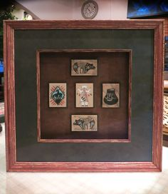 Navajo, hand painted tiles, shadowbox, frame and fillet from @Katherine Adams Larson-Juhl .  Turned out BEAUTIFUL!