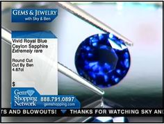 Fabulous 4.6 carat natural blue sapphire for sale at Gem Shopping Network
