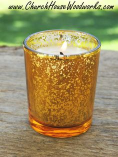 12 Gold Mercury Glass Votive Holders By ChurchHouseWoodworks