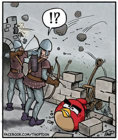 Cartoon: Angry Middle Ages (medium) by thopman tagged angry,birds,cartoon,singlepanel,middleages