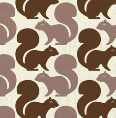 Image of squirrels - fabric sample