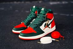 5eaf236031a6a0 The SoleFly Air Jordan 1 High OG collaboration includes two Air Jordan one  in leather and the other in patent leather both releasing at Art Basel