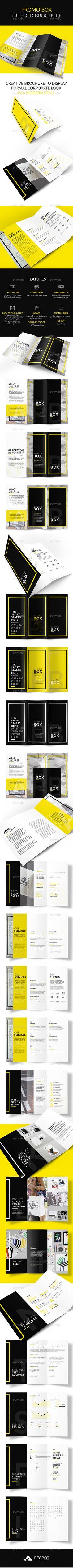 Promo BOX Tri-Fold Brochure  PSD Template • Download ➝ https://graphicriver.net/item/promo-box-trifold-brochure/17041865?ref=pxcr