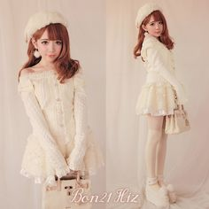 BoBON21 {} exclusive original design invincible two beautiful princess wearing a bow to pull the shoulder knit tops T1141- Taobao $23