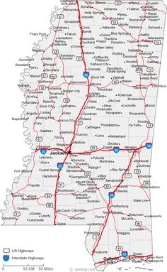 Map of State of Tennessee, with outline of the state cities, towns ...