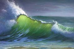 'Sea spray' Karen Malmgren artist Oil on canvas