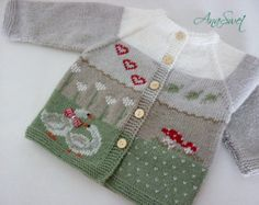 Knitted baby/Knitted baby cardigan.Baby jacket.Baby by AnaSwet