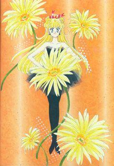 愛野美奈子 / セーラーヴィーナス Minako Aino / Sailor Venus : 美少女戦士セーラームーン原画集 Bishoujo Senshi Sailor Moon Original Picture Collection Vol.2 by Naoko Takeuchi