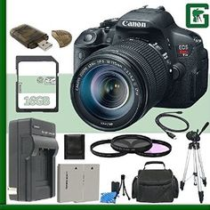 Canon EOS Rebel T5i Digital SLR with 18-135mm STM Lens. EOS Full HD Movie mode with Movie Servo AF for continuous focus tracking of moving subjects. 18.0 Megapixel CMOS (APS-C) sensor, 14-bit A/D conversion, ISO 100-12800 (expandable to H: 25600)