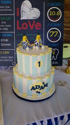 Bananas in Pyjamas cake. Party styled by Party Princess Pajama Birthday Parties, Pajama Party, 2nd Birthday, Birthday Ideas, Banana In Pyjamas, Cake Party, Princess Party, Party Fashion, Bananas
