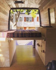 Drop down bed - Full van makeover by Cyrus Sutton