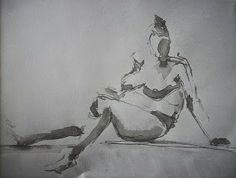 rysunek tuszem A3  ink drawing