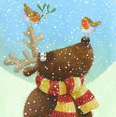 Album 2 « Gallery 15 « Christmas (by category) « Jan Pashley – Illustration / Design Christmas Makes, Christmas Past, Christmas Holidays, Christmas Crafts, Christmas Decorations, Christmas Ornaments, Reindeer Christmas, Illustration Noel, Christmas Illustration